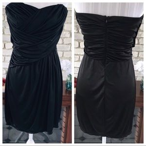EXPRESS STRAPLESS MINI DRESS RUCHED TOP SIZE M